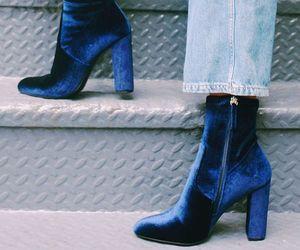 fashion, shoes, and velvet image