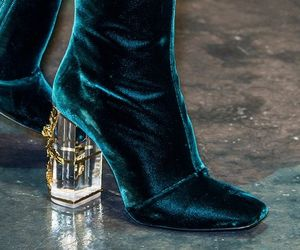 fashion, velvet, and boots image