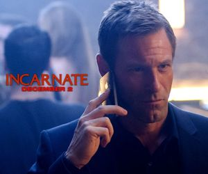 Aaron Eckhart, movie, and scary movie image