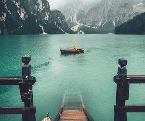 mountains, lake, and nature image