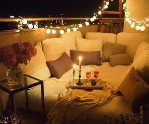 home, lights, and romantic image