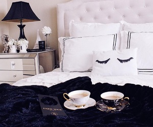 bed, relax, and chic image