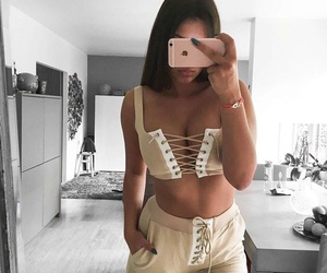 beige and outfit image