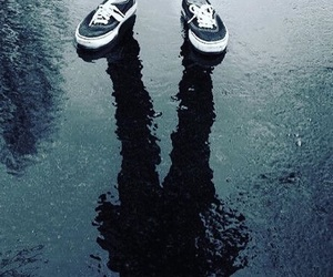 shoes, ombre, and vans image
