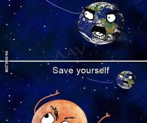 mars, funny, and earth image