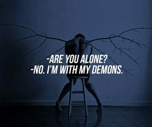 alone and demons image