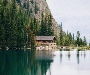 home, lake, and travel image