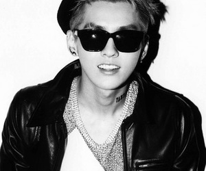 black and white, handsome, and exo m image