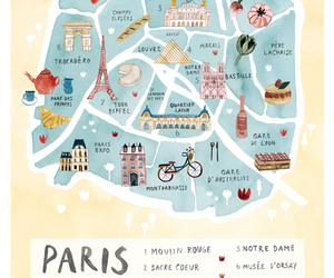 city, travel, and parís image