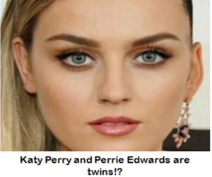 katy perry, lookalikes, and perrie edwards image