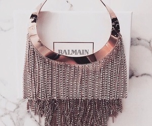 Balmain, necklace, and gold image