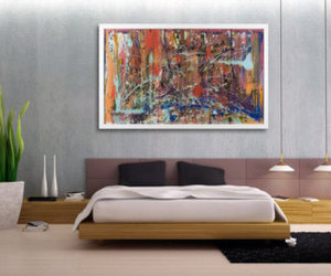 glass art, large abstract art, and original painting image