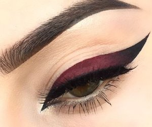 eyeliner, makeup, and black image