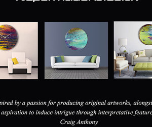 abstract art, Abstract Painting, and glass art image