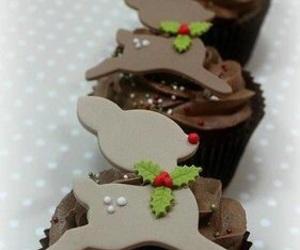 chocolate, christmas, and cupcakes image