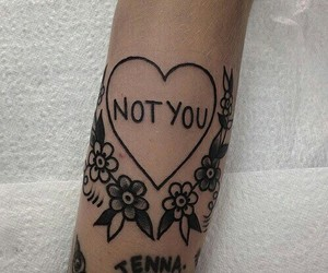 tattoo, flowers, and not you image