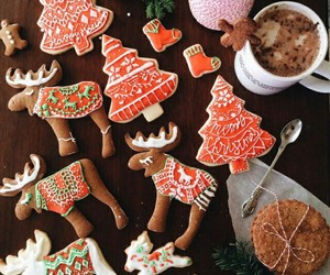 christmas, Cookies, and holiday image
