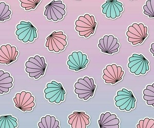 pastel, shells, and wallpaper image