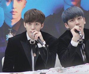 vixx, sanghyuk, and lee hongbin image