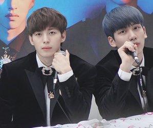vixx, hyukbin, and han sanghyuk image