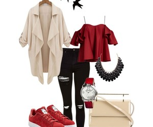 beige, mode, and outfit image