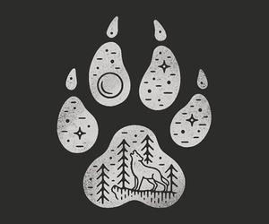 moon, animal, and drawing image