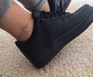 black, nike, and tennis shoes image