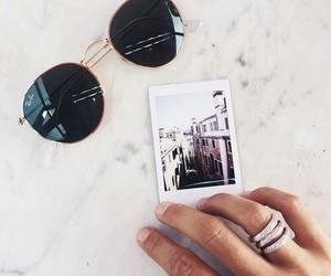sunglasses, photo, and polaroid image