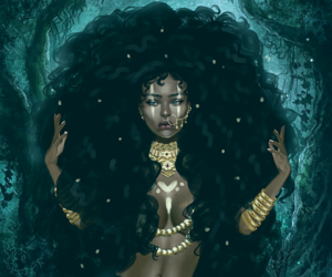 Afro, woc, and art image