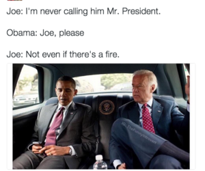 biden, funny, and obama image
