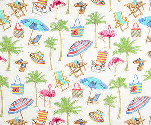 beach, palm, and patterns image