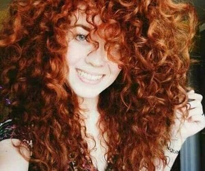 curly, hair, and girl image