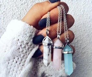 crystal, jewellery, and nails image