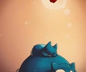 pokemon, snorlax, and apple image
