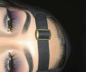 makeup, fashion, and eyebrows image