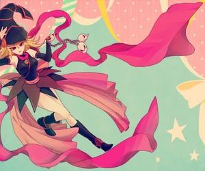 anime, girls, and pink image