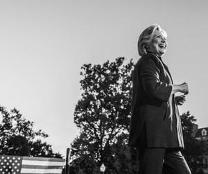 2016, black and white, and democrat image