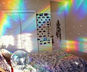 rainbow, room, and bedroom image