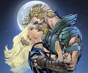 Black Canary, dc comics, and oliver queen image