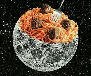 food, moon, and background image