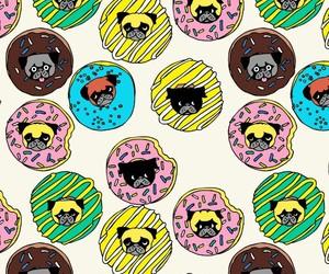 background, dog, and pattern image