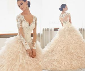 bridal gown, dresses, and gowns image