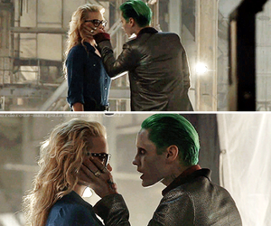 harley quinn, jared leto, and suicide squad image