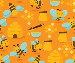 background, bee, and pattern image