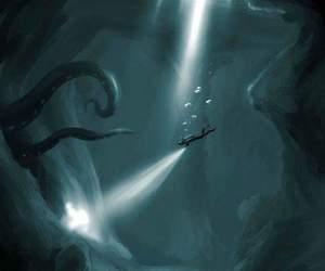 Darkness, deep, and ocean image