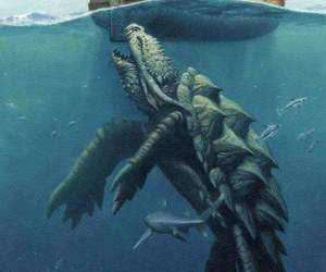 ocean, ships, and sea monsters image