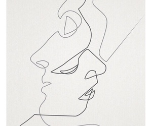 art, drawing, and kiss image