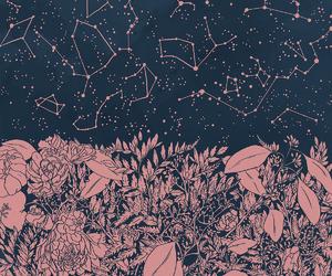 stars, art, and constellation image
