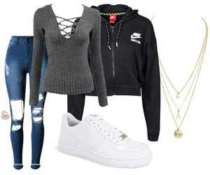 Polyvore, fashion, and nike image