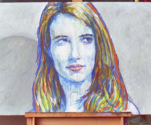 art, emma roberts, and oil image